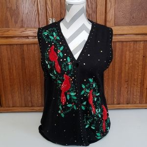 Kim Rodgers Cardinal Holiday Vest